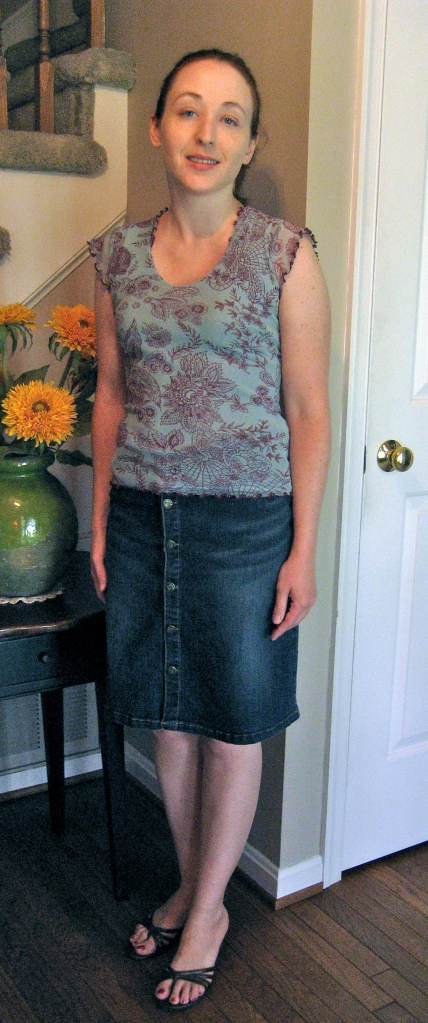 Anthropologie (Moth) Top with Jean Skirt