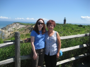 Me and Mom at Aquinnah Cliffs